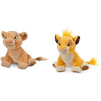 Amazon Com Simba Plush And Nala Plush The Lion King Mini Bean Bag