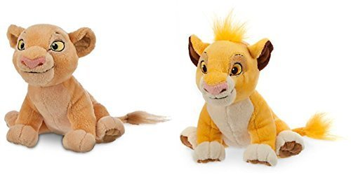Simba Plush and Nala Plush The Lion King - Mini Bean Bag - 7'' Beanie Bean Bag Plush