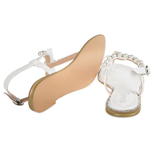 edcf9223b SheSole Women s Wedding Shoes Flat Rhinestone Sandals For Venlantine s
