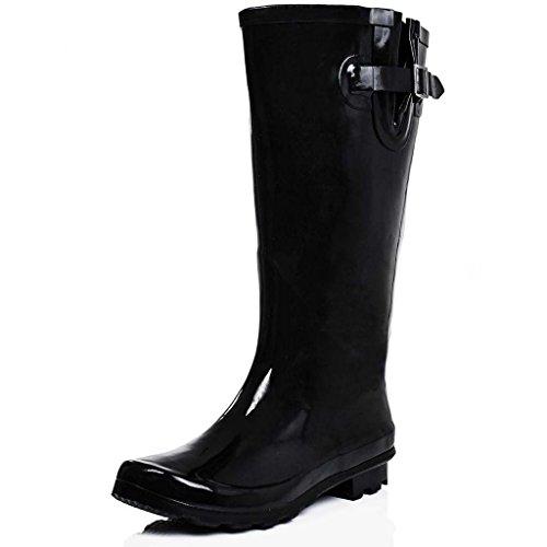 Spylovebuy Women's Rubber Boots 10 Black
