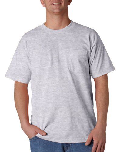 Union Made: A Division of Bayside Adult Union Made Cotton Pocket Tee - Ash (99/1) - M ()