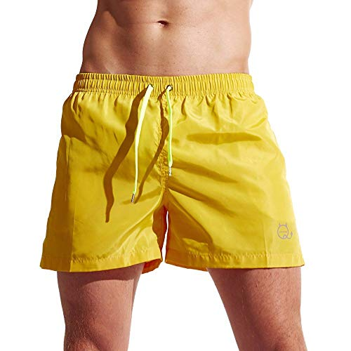 Dressin Mens Shorts Solid Quick Dry Sport Short Runks Beach Surfing Watershort Boardshort