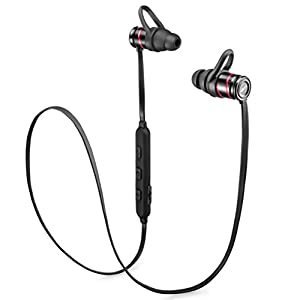 Bluetooth Headphones, BEST STEREO SOUND Wireless Earbuds Magnetic Sports Earphones with mic Headphones Waterproof IPX7 Headsets For Gym Running Workout 8 hours Noice Cancelling Headphone Bluetooth 4.1