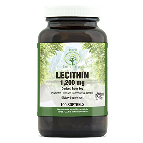 Natural Nutra Soy Lecithin Dietary Supplement from Soybean Oil, High Potency, 1200 mg, 100 Softgels - Natural Soya Lecithin