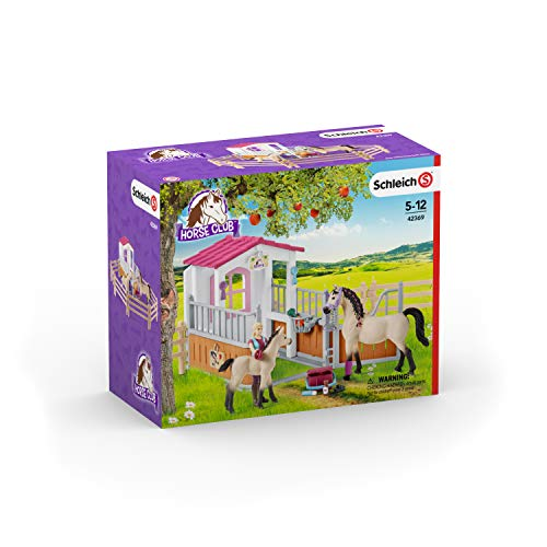 Price comparison product image Schleich Horse Club Play Set Horse Stall with Arab Horses and Groom