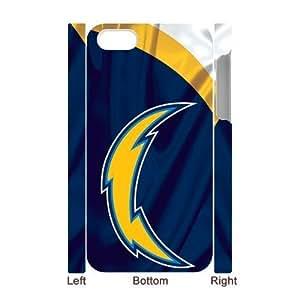 RAROFU New Style San Diego Chargers Custom Luminous Case for IPhone 4/4s 3D