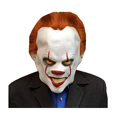 JJWW Halloween Latex Mask Clown Cosplay Scary