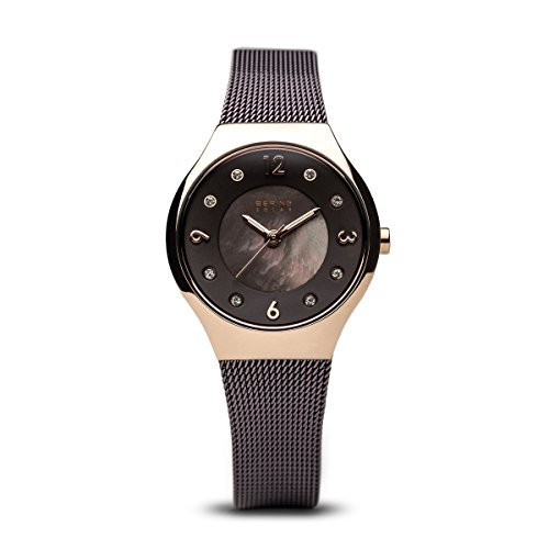 BERING Time 14427-265 Womens Solar Collection Watch with Mesh Band and Scratch Resistant Sapphire Crystal. Designed in Denmark.