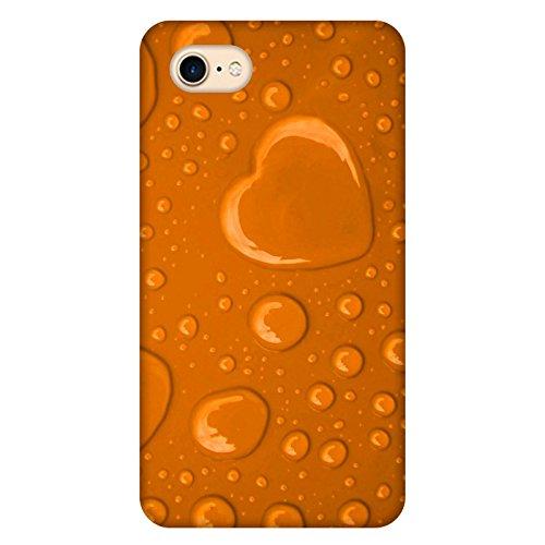 Coque Apple Iphone 7 - Coeur de pluie orange