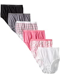 Hanes Women's 6 Pack Core Cotton Brief Panty
