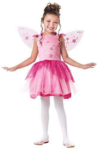 Seasons Direct Halloween Girl's Pink Sparkle Fairy Costume Includes Dress and Wings -