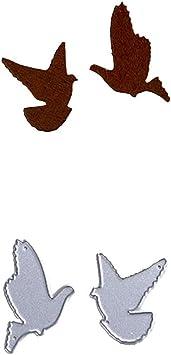 Flying Bird Metal Cutting Dies Scrapbooking Cutter Stencil Photo Album Decor、Fad