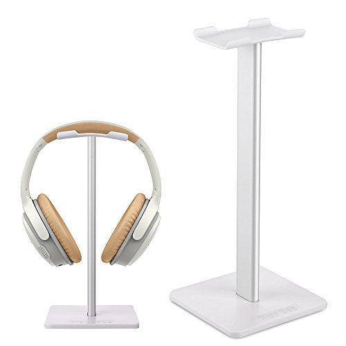 Headphone Stand Gaming Headset Stands New Bee Solid Aluminum+TPU+ABS Headphone Headset Hanger Holder Mount Headphone Display for Most Headphones Bose,