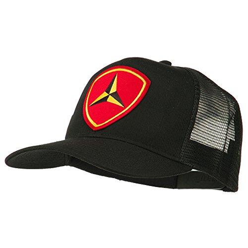 E4hats 3rd Marine Division Patched Mesh Cap - Black OSFM (Hat Marine Division)