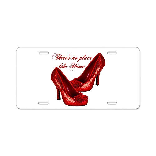 MilitaryAutoTag Personalized Novelty Front License Plate Decorative Vanity Gift Aluminum Metal Car Tag Wizard of Oz Red Ruby Slippers