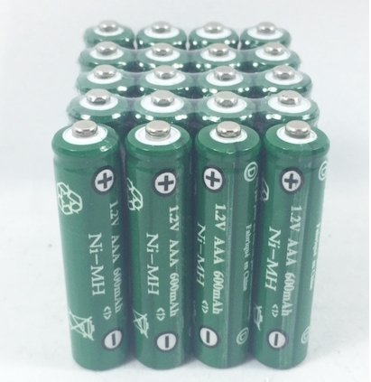 Solar Light AAA Ni-Mh 600 mAh Rechargable Batteries H (Pack of 20)