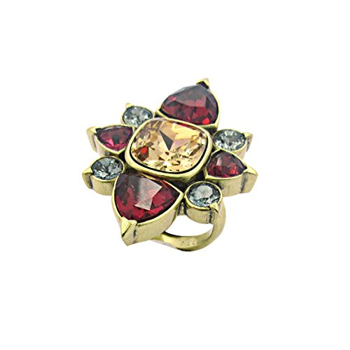 Nicole Miller New York Trilliant Starburst Cocktail Ring, Gold ox Plated, Size 8