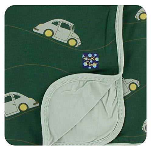 KicKee Pants Little Boys Print Stroller Blanket - Topiary Italian Car, One Size ()