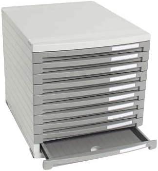 HAN Schubladenbox Contur mit 10 Fächern lichtgrau DIN B4