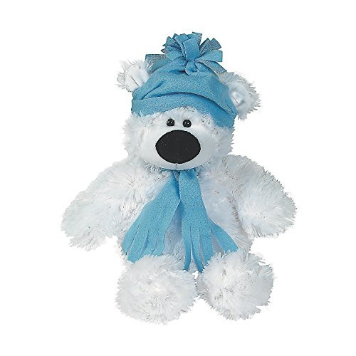 Plush Holiday Polar Bear - Large (Sitting, 11