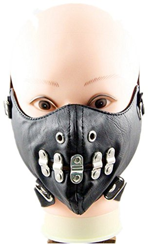 Qiu ping New men and women style show rivet mask rock mask personality motorcycle mask by Qiu ping