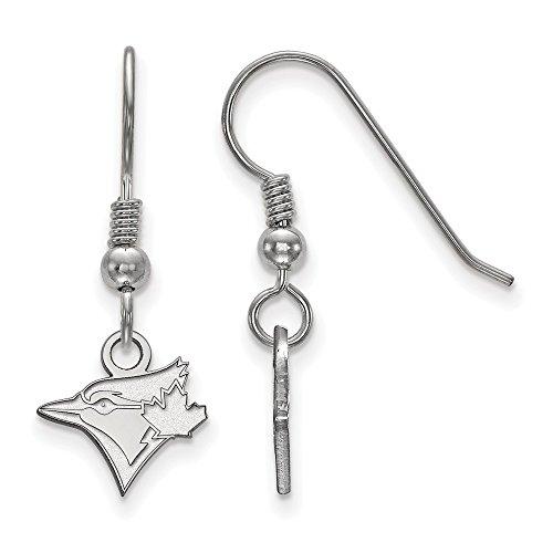 (MLB Toronto Blue Jays Sterling Silver MLB LogoArt Toronto Blue Jays XS Dangle Earrings Size One Size)