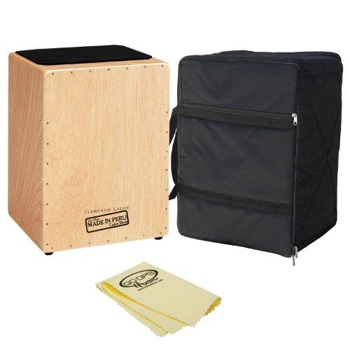 Gon-Bops-CJFL-Flamenco-Cajon-with-GoDpsMusic-Polish-Cloth-and-Gon-Bops-Carry-Bag