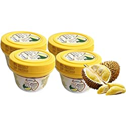 Moniegold Durian Monthong Gummy 60 g. (Pack of 4) made from fresh Durian Thailand King of fruit which gummy and delicious , easy to eat by Thai Tasty Yummy