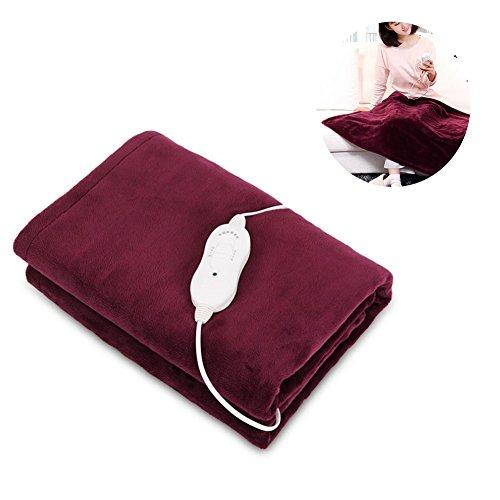 WANGXN Throw Blanket Beheizte Waschbare Weinrot Geeignet für Stuhl Oder Bett Elektrische Decken