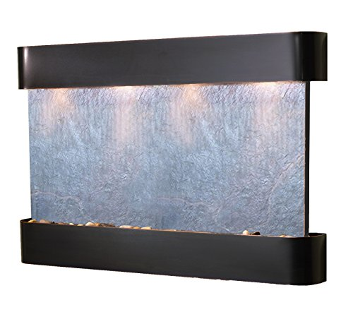 Sunrise Springs Water Feature with Blackened Copper Trim and Round Edges (Black (Steel Round Wall Water Fountain)