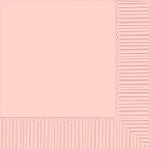 """Luncheon Napkins Color Party Tableware, Pale Pink, 6.5"""" x 6.5"""", Pack of 20. -  Amscan, 51786.26"""