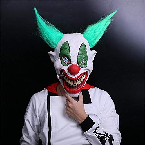 Big Boss Clown Mask - Hyaline&Dora Evil Scary Demented Psycho Clown