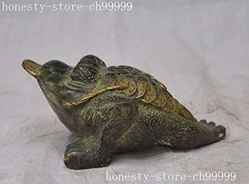 Owl Decoration Statues & Sculptures - Crafts Statue China Fengshui Bronze Gilt Money Coin Golden Toad Bufo Frog Money Wealth Statue Halloween - by GTIN - 1 Pcs - Lucky Frog Statue ()