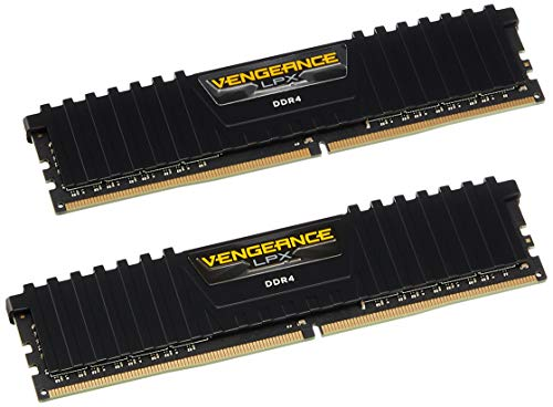 Corsair Vengeance LPX 8GB (2x4GB) DDR4 DRAM 2400MHz (PC4-19200) C14 Memory Kit - Black ()