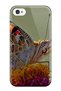 Ultra Slim Fit Hard ZippyDoritEduard Case Cover Specially Made For Iphone 4/4s- Butterfly Macro