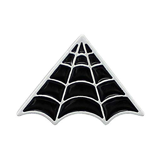 Halloween Beauty and Tombstone Coffin Epitaph Skull Enamel Lapel Pin Brooch Series Gifts for Women (Spider Web)]()