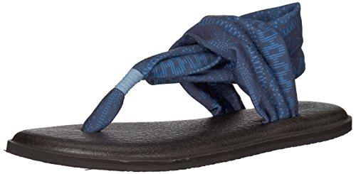 Sanuk Frauen Yoga Sling 2 Flip Flop Blauer Himmel Shibori Stripes