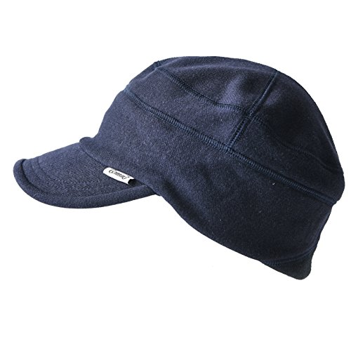 CHARM Casualbox | Work Cap Military Hat Summer Winter Men Women Peak Stretch Navy ()