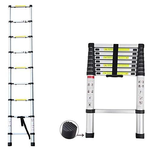 2020 Latest Design DIY Multi-Purpose Aluminium Telescopic Ladder Extension Extend – Portable Foldable (2.6M)