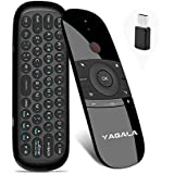 YAGALA Air Mouse with Keyboard, W1 2.4Ghz Mini Wireless Keyboard with Gyro, Infrared Learning Remote Controller for Android TV Box, Mini PC, Smart TV, Projector, HTPC, Laptop, All-in-one PC/TV