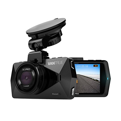 """Vantrue X1 Pro 2.5K Dash Cam Super HD 1440P/30fps 1080P/60fps 2.7"""" LCD Car Dashboard Camera w/170° Wide Angle, Parking Mode, Super Night Vision, Support up to 256GB, LCD Rotate, Motion Detection from VANTRUE"""