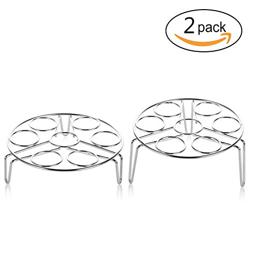: Netany 2 Piece Stainless Steel Egg Steamer Rack for Instant Pot Accessories /Steam Rack for Pressure Cooker Accessories