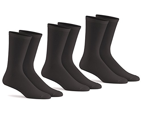 Fox River Mills 3 Pack Therm-A-Wick Liner Sock (Black, Large)