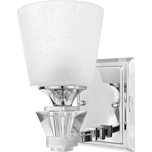 Quoizel DX8601C Deluxe Bath Wall Sconce, 1-Light, 100 Watts, Polished Chrome (9