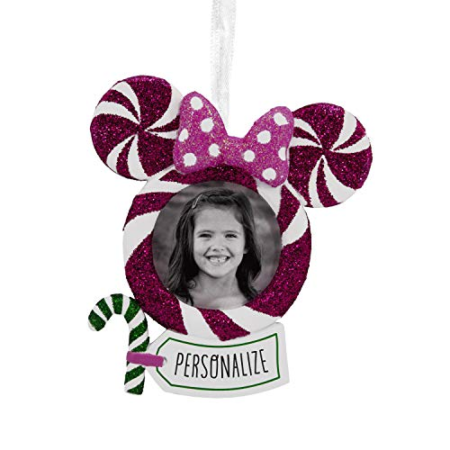 Hallmark Christmas Ornaments, Disney Minnie Mouse Personalized Picture Frame Ornament