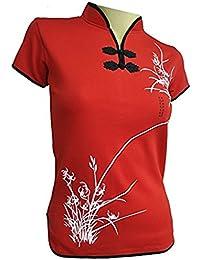 Amazing Grace Elephant Co. Sexy Chinese Dress Top Modern Qipao Cheongsam Top