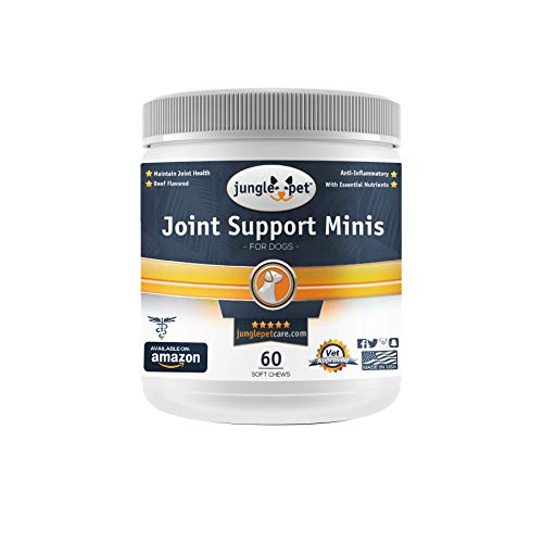 Jungle Pet Joint Support Mini - Chewable Treats - for Small Dogs - Highly Palatable - Chondroitin Glucosamine Omega Fatty Acids - Vitamins