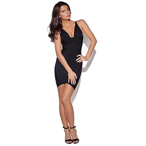 Schwarz Kleid Schwarz Schwarz Damen HLBCBG qw1x7TEw