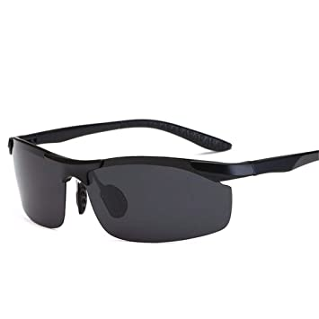 FRFG Gafas de Sol de imitación de Aluminio y magnesio polarizadas para Exteriores, Color Negro