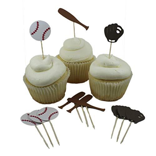 Baseball theme Cupcake Toppers Collection set of 12 Baseball themed Cupcake Topper sports Boy Birthday